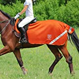 Harrison Howard Climax Horse Fly Rug Soft Mesh Air Permeability Fly Exercise Sheet Fly Protection for Horse-Vibrant Orange