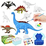 Auney Dinosauro Kit Dinosauro Figurina per Pittura Giochi Creativi, Pittura di Dinosauro per Bambini, DIY Lavoretti Creativi per Bambini