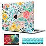 TwoL Case for 2020 MacBook Pro 13 inch, Plastic Hard Shell Case Cover and Silicone Keyboard Skin & Screen Protector Compatible New MacBook Pro 13 inch A2251 A2289 A2338 M1 (Abstract Flower)