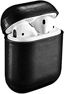 iCarer AirPods Vintage Leather Protective Case - Black