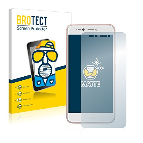 BROTECT 2X Entspiegelungs-Schutzfolie kompatibel mit Wiko Upulse Lite Bildschirmschutz-Folie Matt, Anti-Reflex, Anti-Fingerprint