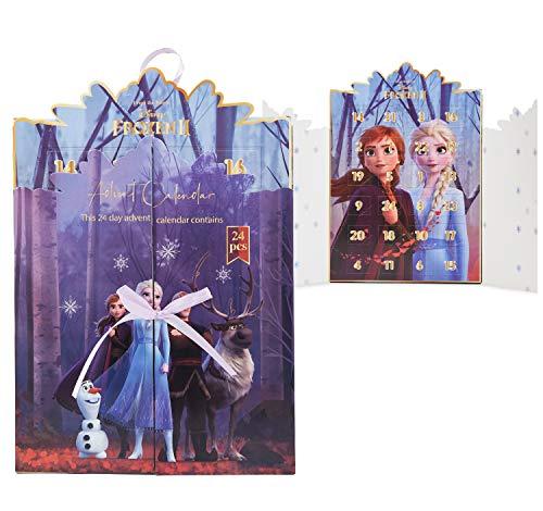Disney Frozen Calendario Adviento, Calendario de Adviento 2020 de Joyas, Incluye 24 Sorpresas con Anna y Elsa Colgantes Pulsera Collar, Advent Calendar Para Niñas