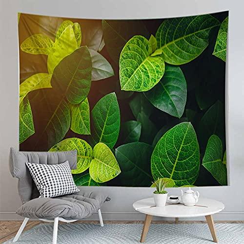 PPOU 3D arazzo foglia Verde piante Tropicali appeso a parete decorazione Della parete di casa arazzo sfondo panno appeso panno A4 130x150 cm