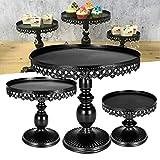 Soporte para tartas clásico de hierro forjado negro, bandeja de decoración de...