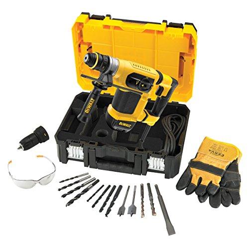 Dewalt D25414KT-LX D25414KT 32mm SDS Plus Multi Drill with Accessories in TSTAK Kitbox 110V, 1000 W, 110 V, Black/Yellow, 110 Volt