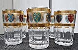 Set de 6 Vasos de Cristal para Té marroquí corazon de colores