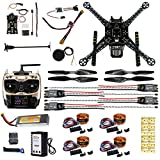 CS PRIORITY S600 4-Axis Rack Quadcopter Frame Kit with Landing Gear Skid PX4 PIX 2.4.8 32 Bit Flight Controller AT9S Transmitter Battery