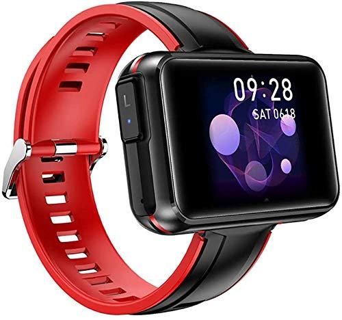Reloj inteligente con auriculares inalámbricos hombres mujeres smartwatch auriculares Bluetooth auriculares deporte fitness pulsera rojo