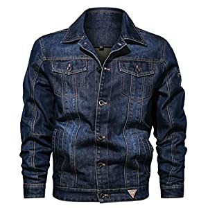 Men's Casual Denim Jacket  Multi-Pocket Zipper Outdoor Casual Jean Coat