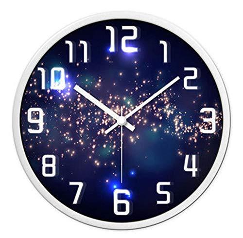 rrff Relojes De Pared E Reloj De Pared Decorativo Antiguo Reloj De Pared Mudo Grande Arte Digital Clásico Decoración del Hogar Herramientas De Decoración