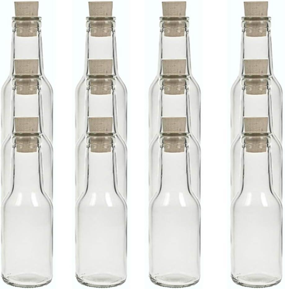 Juego de botellas de cristal de hocz con tapón de corcho, 6/8/10 piezas, capacidad de 150 ml, tapón de corcho, botella de aceite, botella de cristal ...