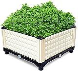 Jardinera de cama de jardín elevada Caja de jardinera de cama de jardín elevada Soporte de flores Vegetal elevado Fruta al aire libre Plantación de interior Terraza Balcón Contenedor de restaurante Ja
