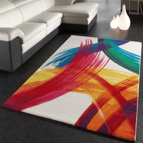 Paco Home Tappeto Moderno Splash di Design Tappeto Colorato A Pennellate Multicolour,...