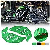 FATExpress Motocicleta CNC Aluminio Decoración Placa de cubierta lateral del motor para Kawasaki Vulcan S ABS VN EN 650 EN650 2015 2016 2017 2018 2019 Accesorios de moto Piezas 15-19