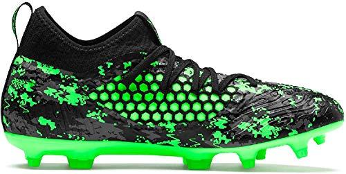 Puma Herren Future 19.3 Netfit FG/AG Fußballschuhe, Schwarz Black-Charcoal Gray-Green Gecko, 42.5 EU