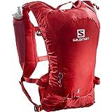Salomon AGILE 6 SET Mochila de running ligera, 2 botellas SoftFlask 500 ml incluidas, LC1305600, 6 L, Rojo (Goji Berry)