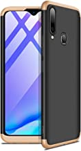 VIVO Y83 Pro Case, Ultra-Thin 360 Full Protection Case [Rugged Armor] Bumper PC Phone Cases Shockproof Protective Cover for VIVO Y83 Pro (Black-Gold)