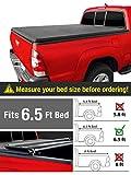 MaxMate Soft Tri-Fold Truck Bed Tonneau Cover for 2007-2013 Chevy Silverado/GMC Sierra 1500; 2007-2014 2500 HD 3500 HD | Fleetside 6.5' Bed