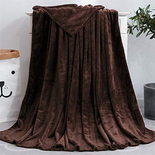 PengMu microvezel deken pluizig koraalrood donkere koffiekleur op fluweelrand overtrekken zware veelzijdig bruikbaar onderhoudsvriendelijk