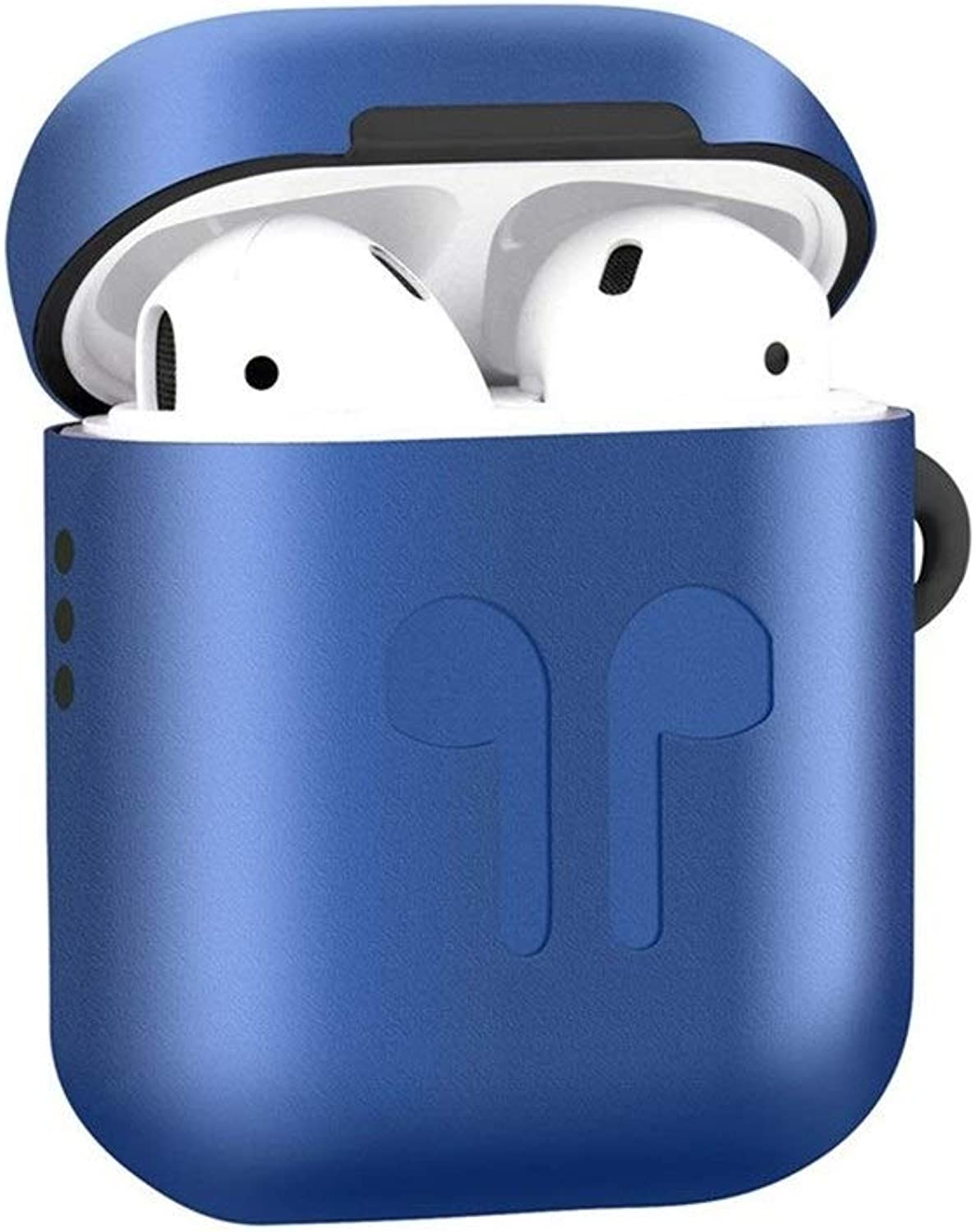 Headset Airpods Cover, Metallic Silicone 2in1 DropProof Headphones Charger Case