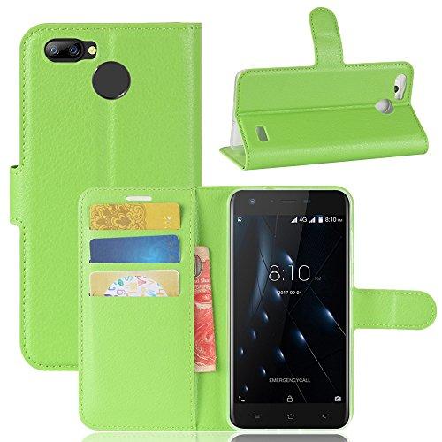 Handyhülle für Blackview A7 Pro 95street Schutzhülle Book Case für Blackview A7 Pro , Hülle Klapphülle Tasche im Retro Wallet Design mit Praktischer Aufstellfunktion - Etui Grün