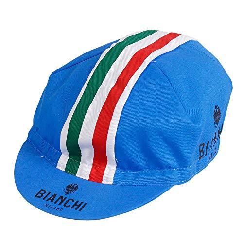 Bianchi Milano Unisex Fahrradkappe, Neonfarben Einheitsgröße blau