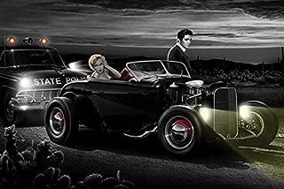 Buyartforless Joy Ride by Helen Flint 36x24 Elvis Presley Marilyn Monroe Art Print Poster Icons