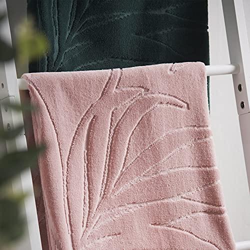 Cosmopolitan Toalla de Mano 100% algodón con Estampado de Palma, Ideal para Hacer una declaración en tu Cuarto de baño, Suave al Tacto, lujosamente esponjosa y Altamente Absorbente (50 cm x 90 cm)