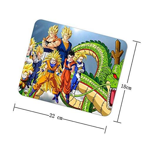 Spiel Mauspad Büro Mauspad Gaming Oberfläche Maus rutschfeste Matte, Quadrat Mauspad, Anime Art Kunstwerk Dragon Ball Fiktion Fiktionale Figur Illustration Mythologie, 9x7 Zoll