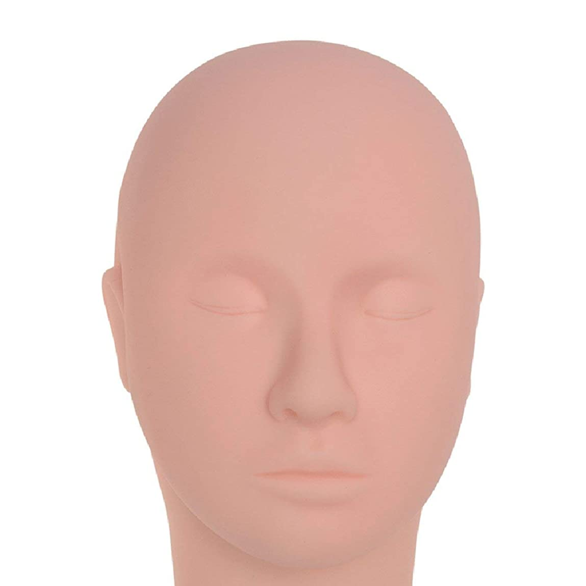 装置試す団結美容マッサージエクササイズヘッドモールドグラフトまつげヘッドモデルセミパーマネントマネキンヘッドメイクアップタトゥーダミーヘッド(フレッシュ)