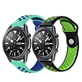 PaceBid 2 Piezas Correas Compatible con Galaxy Watch Active/Active 2 (40mm/44mm)/ Galaxy Watch 3...