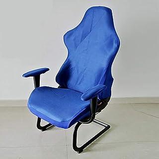 szlsl88 Fundas para sillas Decoración Poliéster Lavable Asientos para computadora Sillones Modernos Protector extraíble Elástico Office Gaming Spandex Soft(Azul)