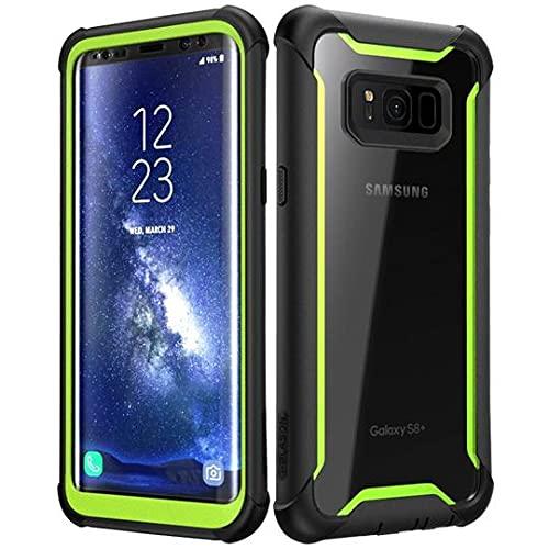 i-Blason Samsung Galaxy S8 Plus Hülle [Ares] Handyhülle 360 Grad Case Robust Schutzhülle Cover mit eingebautem Displayschutz für Galaxy S8 + Plus, Green - 6.2 Zoll