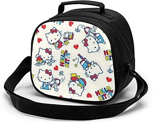 Hello Kittys - Bolsa de almuerzo para niños, reutilizable, portátil, bolsa de comida térmica con correa...