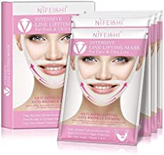 V-Line face Chin Lift and Shaping Mask Slimming Lifting Firming Double Chin Treatment Mask Firm Moisture,Lift and Restore Skin 4 Pcs/Box