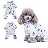 HongYH Schlafanzug, für Hunde, Welpen, pyjamsa Hunde-Overall, 100% Baumwolle, für kleine Hunde und Katzen