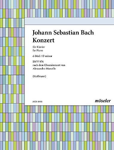 Konzert d-Moll: nach Alessandro Marcello. BWV 974. Klavier.