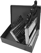 Gyros 45-32019 Premium (Made in USA) Industrial Grade High Speed Steel Black Oxide Metric Drill Bit Set (19 Piece)