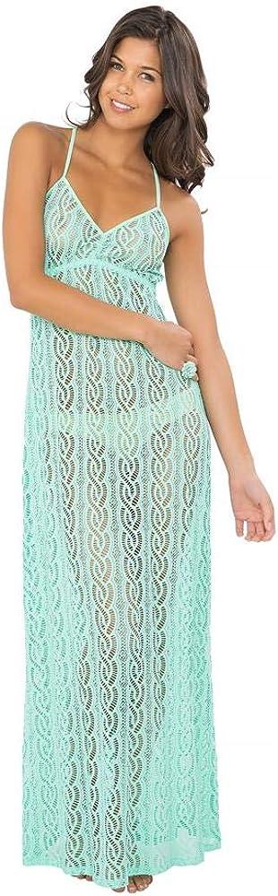 Luli Fama Amor MARINERO - Tassel Back Maxi Dress - XS/Mint Convertible