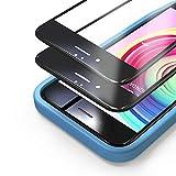 Bewahly Cristal Templado para iPhone 6 / 6s [2 Piezas], 3D Completa Cobertura Protector Pantalla con Marco de Instalación Fácil, 9H Dureza Alta Definicion Vidrio Templado para iPhone 6 / 6s (Negro)