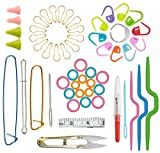 Basic Knitting Tool Accessory Set, with Packing Box, Knitting Needle kit DIY Hand Knitting Art Tool, Suitable for Beginners and Experienced Crochet Lovers