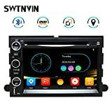 Car Stereo Radio 7 Inch SWTNVIN Car Navigation Stereo for Ford, 2 Din DVD Player with Bluetooth,Touch Screen,FM Radio Mirror Link,Steering Wheel Control, CD, USB Stick and MicroSD Memory Card for F150