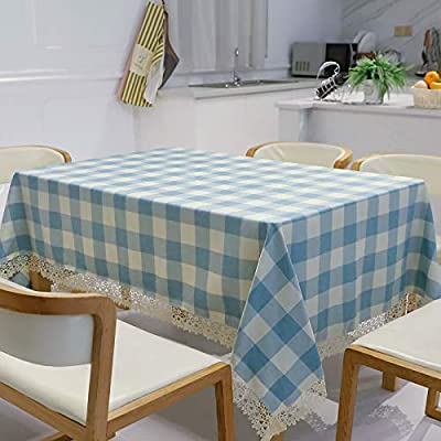 Rectangle LinenTablecloth 60 x 84 inch with Lac...
