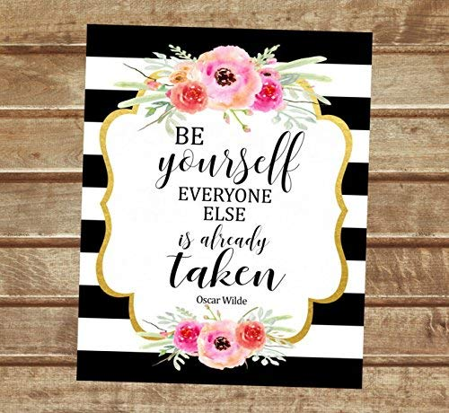 Oscar Wilde Ranking TOP8 Max 42% OFF Quote Art Print Be Alrea Is Everyone Else Yourself