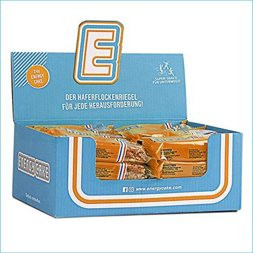 Energy Cake – Schoko-Mandel 24x 125g (3kg) - Original Energieriegel & Haferflocken Flapjack mit langkettigen Kohlenhydraten, weniger Zucker & mehr Energie für den Alltag - Fitness Cake & Oatmeal