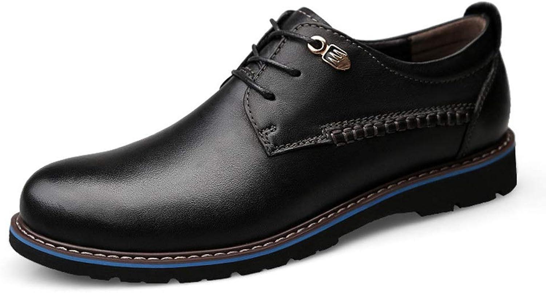 Soft Men's Leather shoes, Microfiber Leather Men's Wedding shoes, Men's shoes Cortical (color   Black, Size   45)