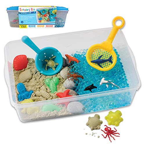 Creativity for Kids Sensory Bin: Ocean and Sand - Fine Motor and Sensory Toys for Kids
