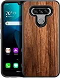 E-Began Case for LG Premier Pro Plus (L455DL), LG XPression Plus 3 / Harmony 4, [Real Natural Walnut Wood, Every Piece is Unique], Dual Layer Hybrid Shockproof Protective Phone Case -Wood