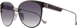 Chrome Hearts Blow Jay II Sunglasses (59mm) (Shiny Black/Shiny Silver-Black Crocodile Pattern Leather)