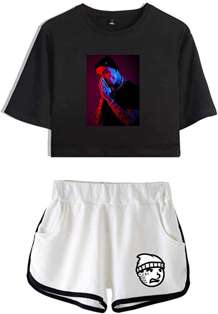 Tydres Gera MX 2 Piece Sets Hip Hop Short Sleeve Suit Womens Girl Set Casual Accessories Fashion Suit (BW-YM00723,XXL)
